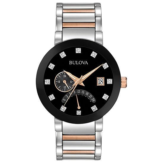 Bulova Futuro Mens Two Tone Stainless Steel Bracelet Watch-98d129