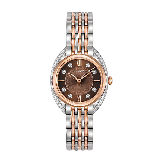 Bulova Classic Womens Two Tone Stainless Steel Bracelet Watch-98r230