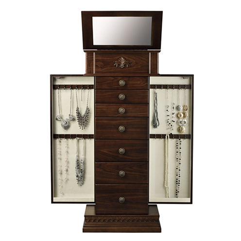 Chestnut Jewelry Armoire - Chestnut Jewelry Armoire - JCPenney
