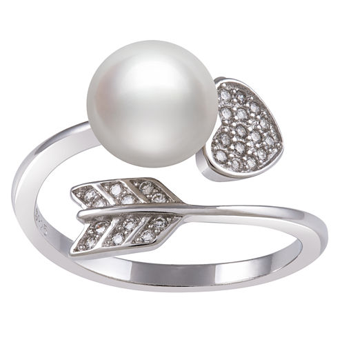 White Pearl Bypass Ring