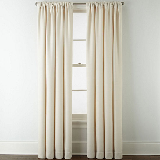 Liz Claiborne Quinn Energy Saving Light-Filtering Rod-Pocket Single Curtain Panel