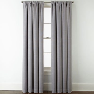 Liz Claiborne Quinn Energy Saving Light-Filtering Rod-Pocket Single Curtain Panel