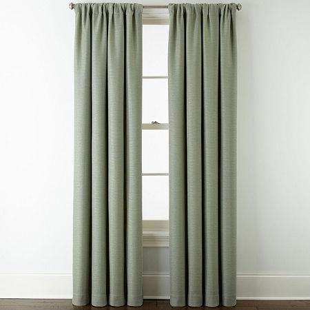 Liz Claiborne Quinn Room-Darkening Rod Pocket Single Curtain Panel, One Size , Green