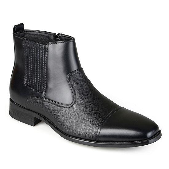 Vance Co Mens Alex Dress Boots Block Heel Zip