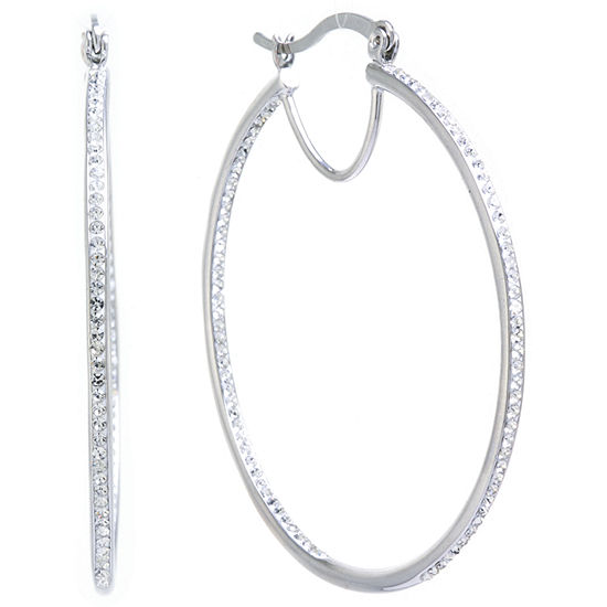 Sparkle Allure 50mm Hoop Earrings