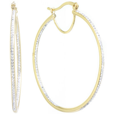 Sparkle Allure Clear 50mm Hoop Earrings