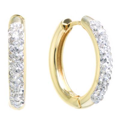 Sparkle Allure Crystal Huggie Clear 20mm Hoop Earrings