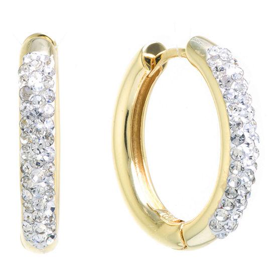 Sparkle Allure Crystal Huggie 1 Pair Hoop Earrings