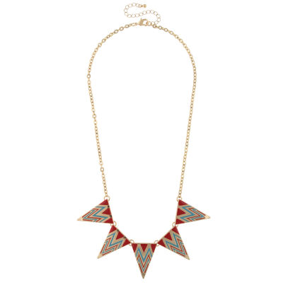 Decree Womens Round Statement Necklace