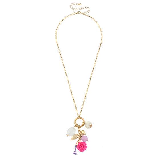 Decree Womens Round Pendant Necklace