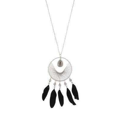 Decree Womens Round Pendant Necklace