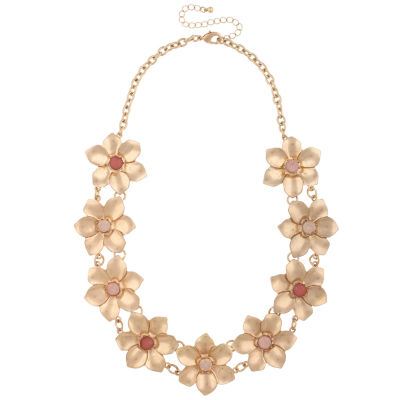 Mixit Womens Multi Color Statement Necklace