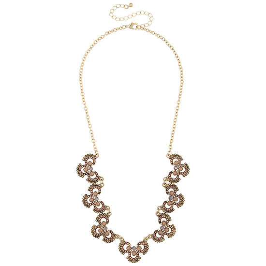 Mixit Multi Color 16 Inch Statement Necklace