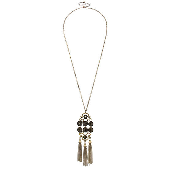Mixit Black 16 Inch Pendant Necklace