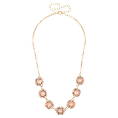 Mixit Womens Orange Statement Necklace