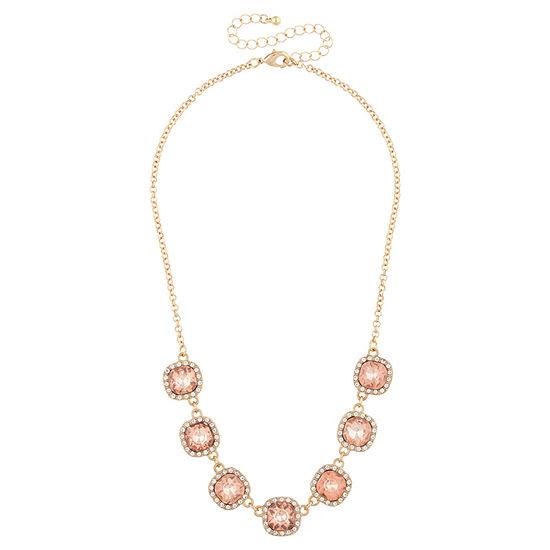 Mixit Orange 16 Inch Statement Necklace