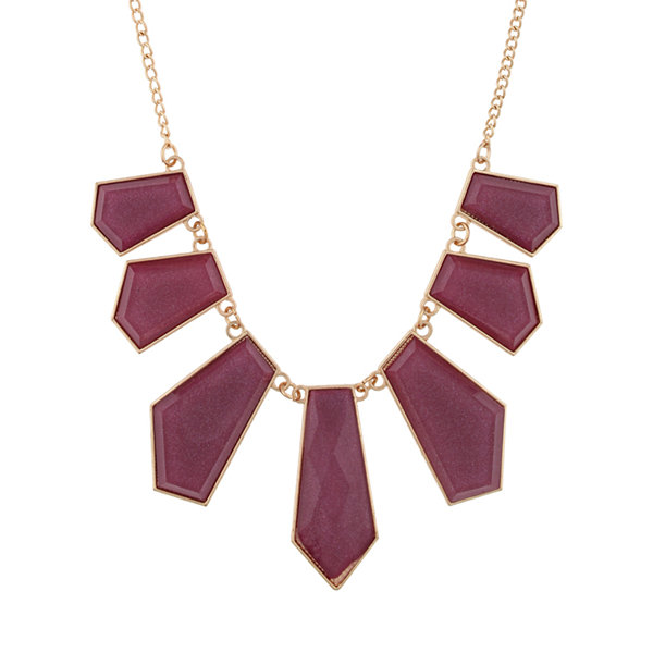Mixit Purple Statement Necklace