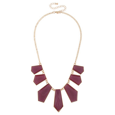 Mixit Womens Purple Statement Necklace