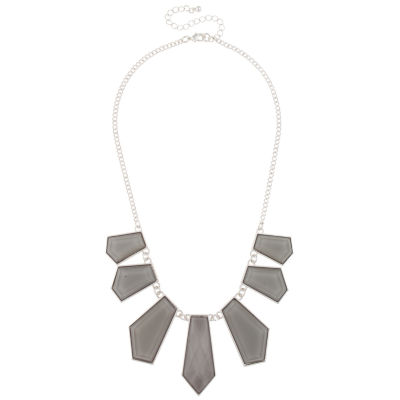 Mixit Gray Statement Necklace