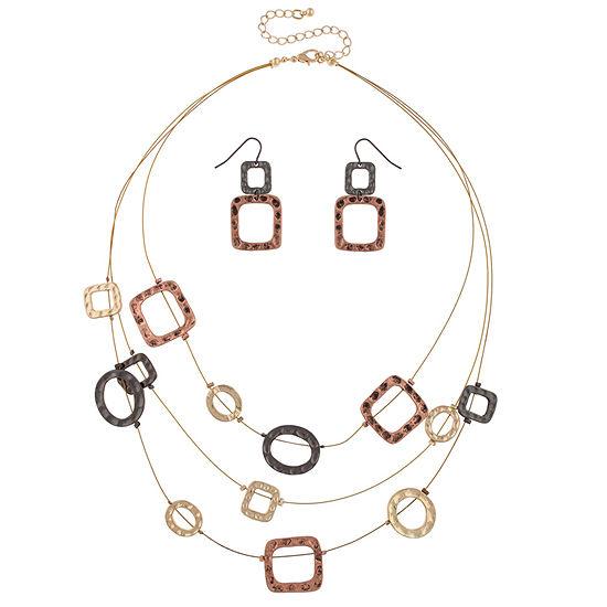 Mixit Womens 2 Pc Necklace Set