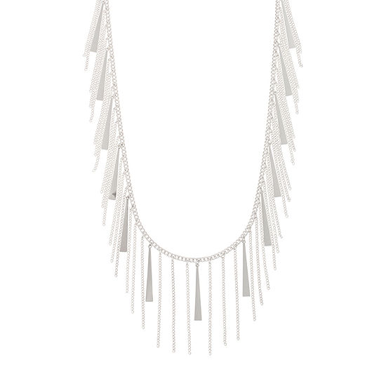 Bold Elements 18 Inch Curb Pendant Necklace