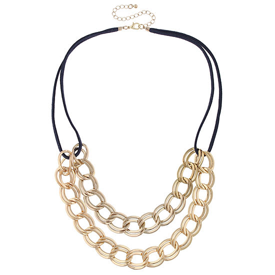 Bold Elements 20 Inch Curb Pendant Necklace