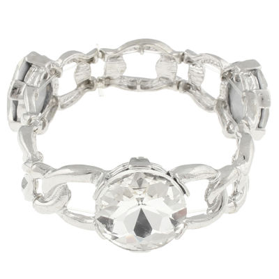 Bold Elements Womens Clear Stretch Bracelet