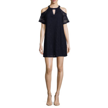 by&by Short Sleeve Shift Dress-Juniors