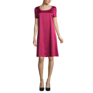 Spense Short Sleeve Trapeze Dress