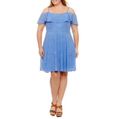 Spense Sleeveless Fit & Flare Dress-Plus