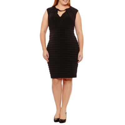 Maggy London Intl Sleeveless Embellished Sheath Dress-Plus