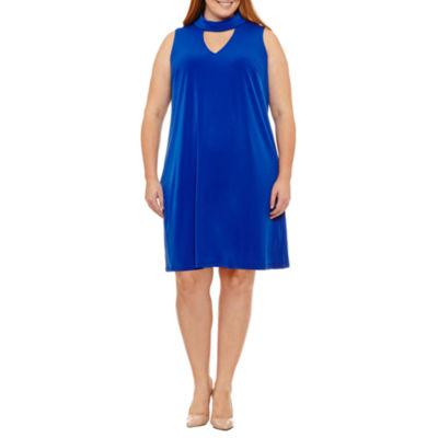 Maggy London Intl Sleeveless Shift Dress-Plus