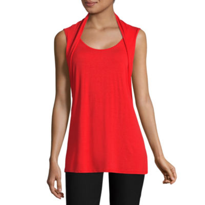 Worthington Sleeveless Scoop Neck T-Shirt-Womens Talls