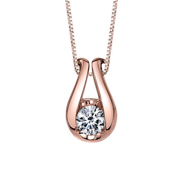 Fine Jewelry Womens 1/8 CT. T.W. White Diamond 14K Gold Pendant Necklace WMYgDLYt