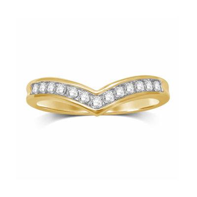 Womens 1/4 CT. T.W. White Diamond 10K Gold Band