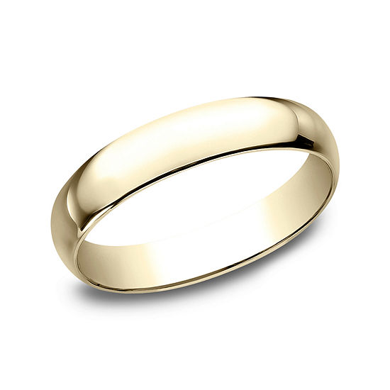 Mens 4MM 10K Gold Wedding Band