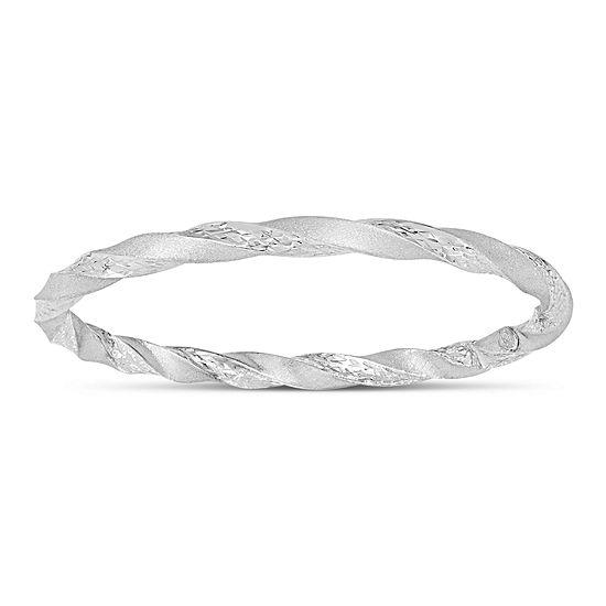 Sterling Silver Round Bangle Bracelet