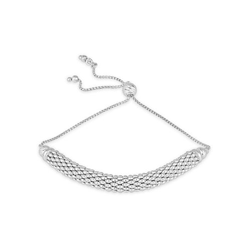 Made In Italy Womens Sterling Silver Bolo Bracelet