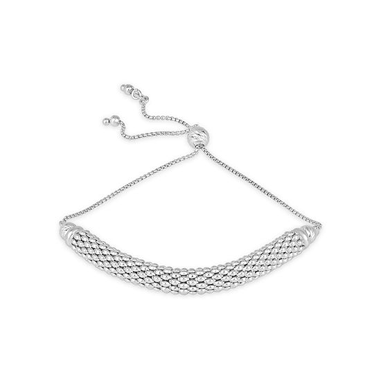 Made in Italy Sterling Silver Round Bolo Bracelet