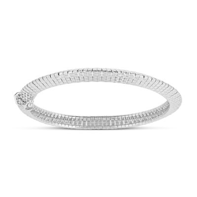 Made in Italy Sterling Silver 7.5 Inch Solid Omega Round Chain Bracelet