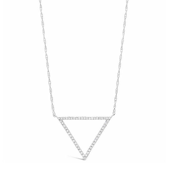 Womens 1 4 Ct Tw White Diamond Sterling Silver Pendant Necklace