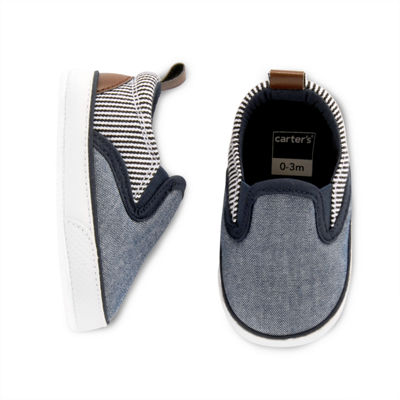 Carter's Chambray and Stripe Slip-On Shoe - Baby Boy