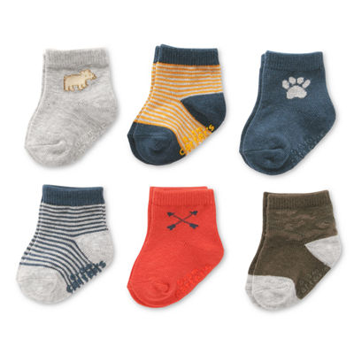 Carter's Novelty 6 Pack Crew Cut Socks - Baby Boy