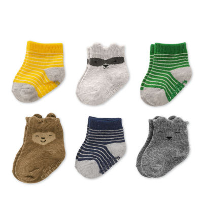Carter's 6 Pack Crew Cut Critter Socks - Baby Boy