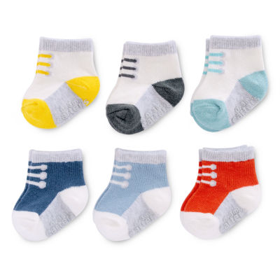 Carter's Sneaker Print 6 Pack Crew Cut Socks - Baby Boy