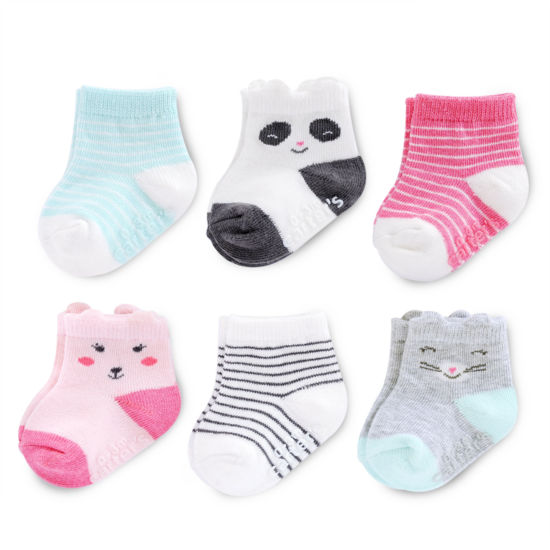 Carter's Critter 6 Pack Crew Socks - Baby Girl