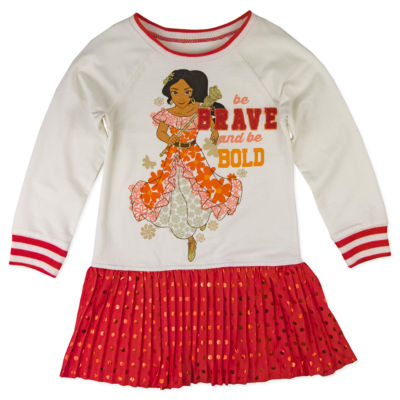 Disney by Okie Dokie Long Sleeve Elena of Avalor Tutu Dress - Preschool Girls