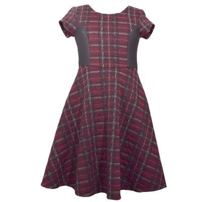 Bonnie Jean Short Sleeve Party Dress - Big Kid Girls