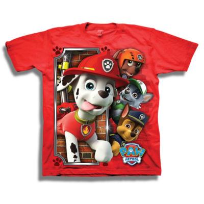 Short Sleeve Paw Patrol T-Shirt-Preschool Boys