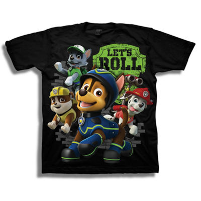 Short Sleeve Paw Patrol T-Shirt-Preschool Boys